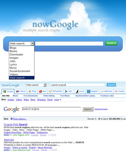 nowGoogle.com : Multiple Search Engine